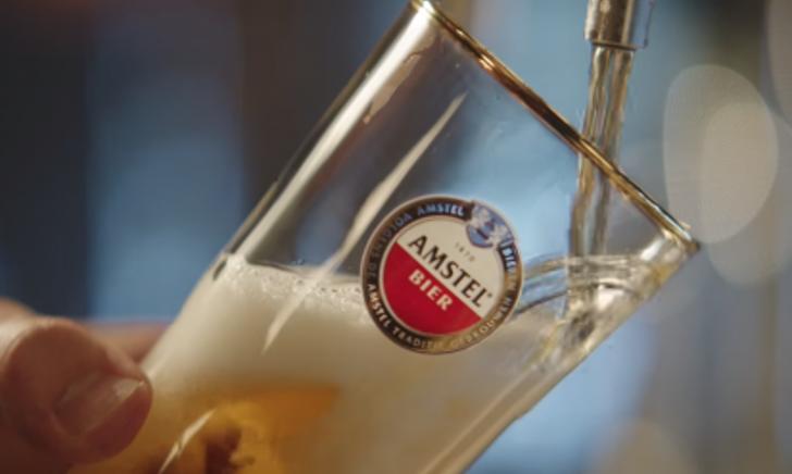 amstel bierglas