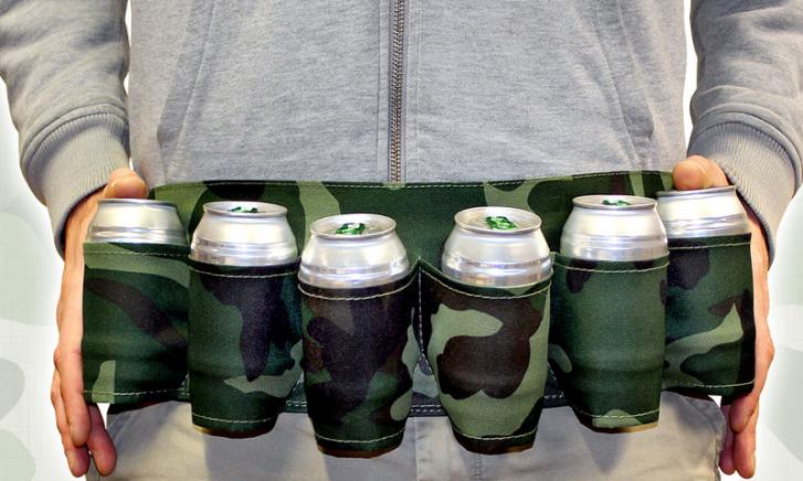 Riem met bier houders