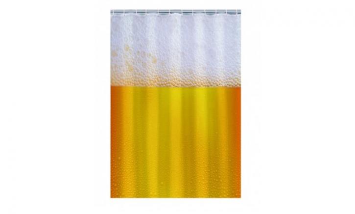 Bier douchegordijn