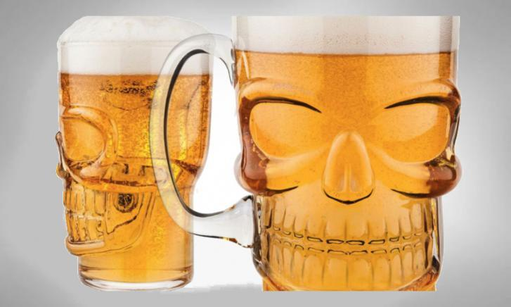 Brain Freeze schedel bierglas