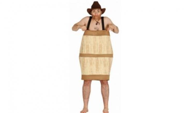 Houten biervat kostuum