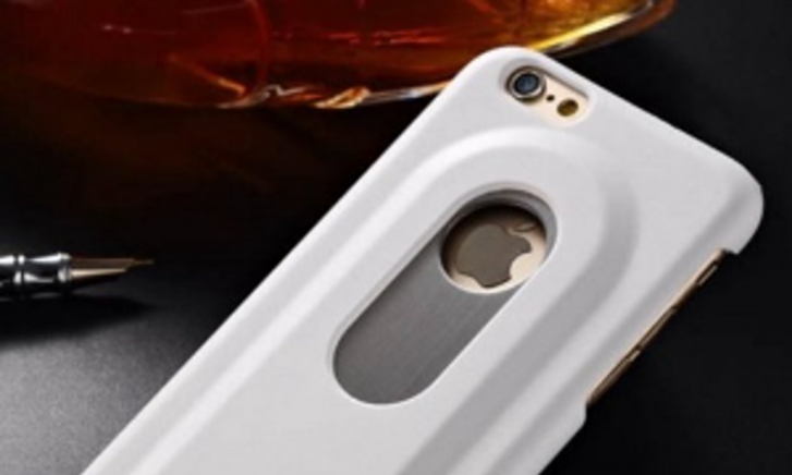 Hard hoesje met bierflesje voor Iphone 6/6S