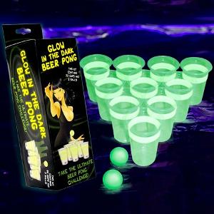 Glow in the dark beerpong