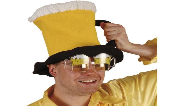 Gele bierhoed