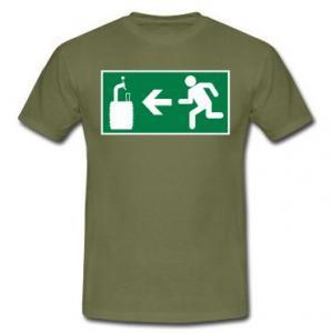 Nood biertje t-shirt