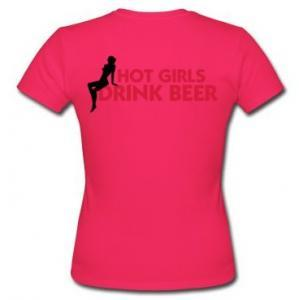 Hot girls drink beer t-shirt