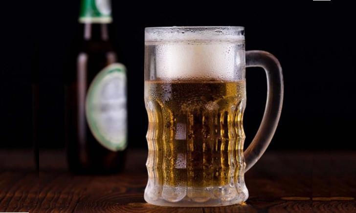 Bevroren bierglas