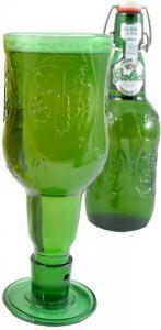 Grolsch beugel bierflesjes glas