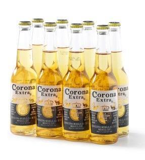 Corona set 8 flesjes