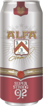 Alfa super strong 9.2 blik van 0.5 liter
