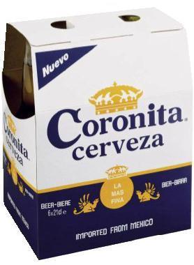 Coronita cerveza (corona bier)