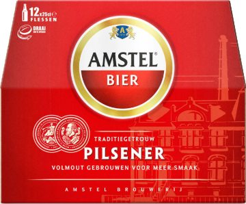 Amstel doos van 12 flesjes á 0,25 liter