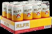 Alfa set van 12 blikken á 0,50 liter