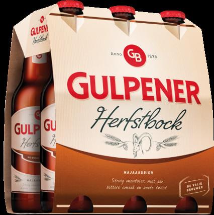Gulpener Herfstbock set van 6 flesjes á 0,30 liter
