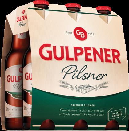 Gulpener set van 6 flesjes á 0,30 liter