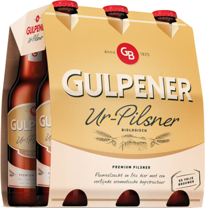 Gulpener Ur-Pilsner set van 6 flesjes á 0,30 liter