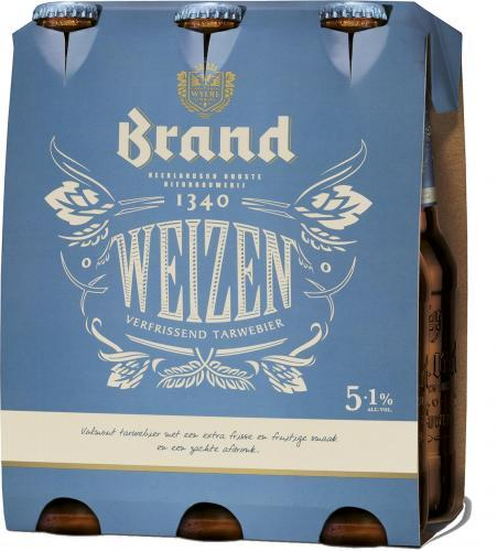Brand weizen set van 6 flesjes á 0,30 liter