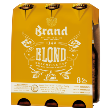 brand blond set van 6 a 0,30 liter