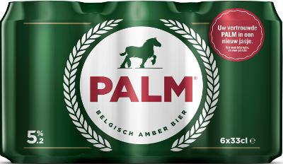 Palm set van 6 blikjes á 0,33 liter