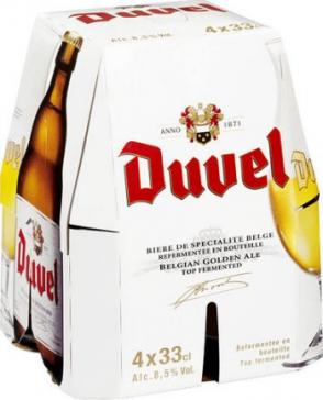 Duvel set van 4 flesjes á 0,33 liter