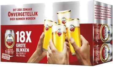 Amstel vriendenpack doos van 18 blikjes a 355 cl