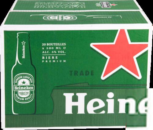 Heineken, doos met 20 flessen van 0,50 liter