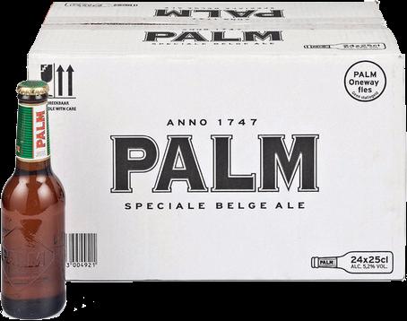 Palm doos met 24 oneway flesjes a 0,25 liter