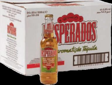 Desperados doos met 24 flesjes van 0,33 liter