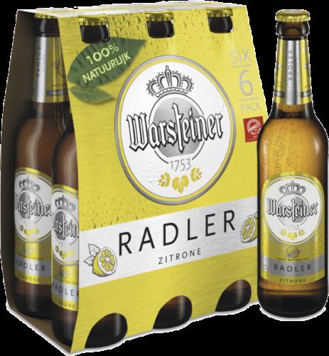 Warsteiner Radler set van 6 flesjes á 0,33 liter