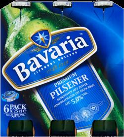 Bavaria Set van 6 flesjes van 0,25 liter
