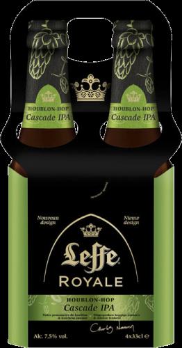 Leffe Royale Cascade IPA set van 4 flesjes van 0,33 liter