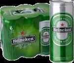 Heineken set van 6 blikjes á 0,25 liter