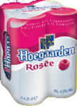 Hoegaarden Rose bier set van 4 blikjes á 0,25 liter