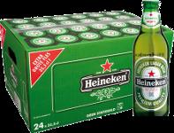 Heineken doos van 24 flesjes á 0,355 liter