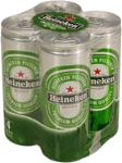 Heineken set van 4 blikjes á 0,25 liter