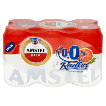 Amstel Radler Grapefruit Alcoholvrij Bier Blik 6 x 33cl