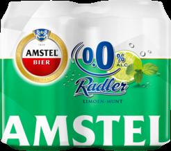 Amstel Radler Limoen Munt 0,0% Blikken 4 x 33cl