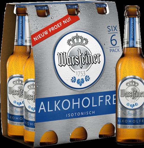 Warsteiner Alkoholfrei set van 6 flesjes á 0,33 liter