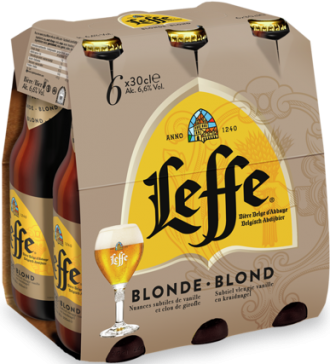 Leffe Blond set van 6 flesjes á 0,30 liter