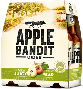 Apple Bandit Juicy Pear set van 6 flesjes á 0,30 liter
