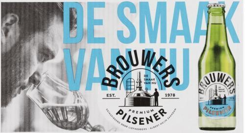 Brouwers Pilsener doos met 24 flesjes van 25cl