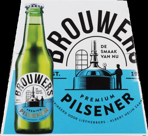 Brouwers Pilsener set van 6 x 0,25 liter