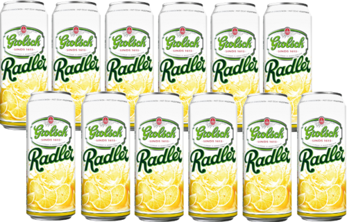 Grolsch Radler set van 12 blikken á 0,50 liter