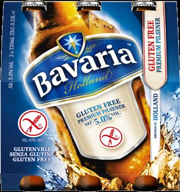 Bavaria Premium pilsener glutenvrij set van 3 flesjes á 0,33 liter