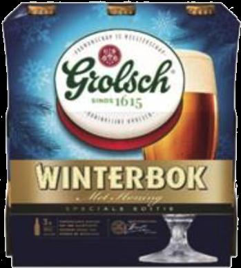 Grolsch Winterbock set van 3 flesjes a 0,30 liter