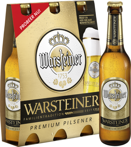 Warsteiner set van 3 flesjes á 0,33 liter