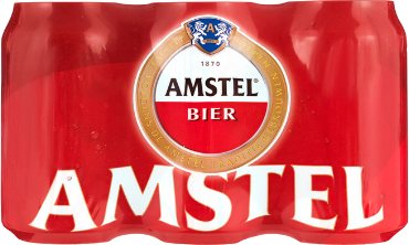 Amstel sixpack met 6 blikjes van 0,33 liter