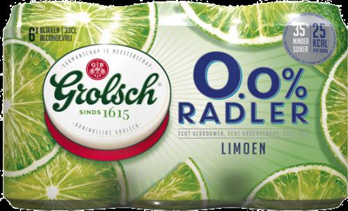 Grolsch 0.0% Radler Limoen set van 6 blikjes a 0,33 liter