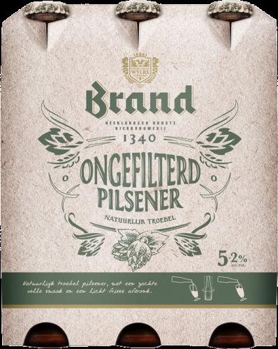 Brand Ongefilterd set van 6 flesjes a 0,30 liter