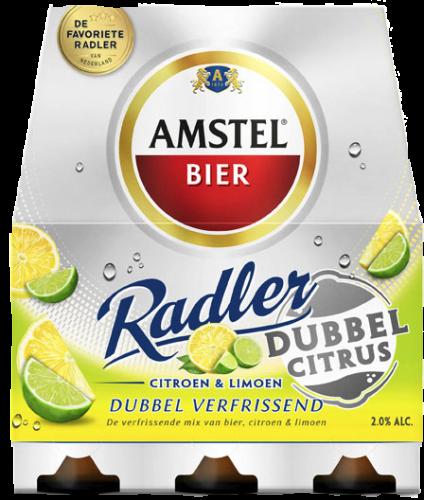 Amstel Radler dubbel citrus 0.0% set van 4 blikjes a 0,33 liter